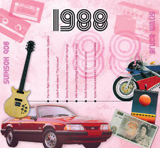 28th Birthday Anniversary Gift Card 1988 Pop Music CD Greetings Gifts Cards