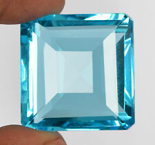 Blue Topaz 56.25 Ct. Square Cut Free Shipping Translucent Nice Gemstone -49