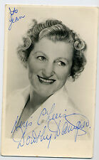Dorothy Dampiér, actress, hand-signed vintage photo Arthur Haynes,