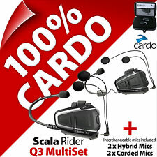 New Cardo Scala Rider Q3 MultiSet Bluetooth Motorcycle Helmet Intercom Headset
