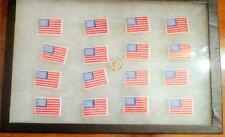 Lot of 16 Small American Flag Patches Iron On USA  (GTC)