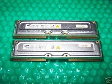 512MB SAMSUNG PC800-45  RIMM RAMBUS RDRAM, matching pair of 256MB