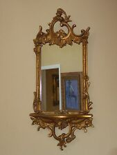Vintage French Provincial Rococo Gold Gilt Scrolls & Flourishes WALL MIRROR