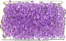 STUNNING LILAC GLASS BEAD CRYSTAL LACE EMBELLISHMENT, SOLD BTM, ART 4737