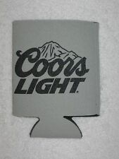 Gray Coors Light Beer Can Bottle Koozie Cooler Black Mountains & Lettering