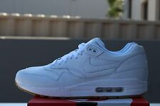 NIKE AIR MAX 1 LEATHER PA SZ 9.5 WHITE GUM LIGHT BROWN OSTRICH PACK 705007 111