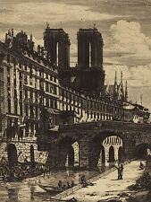 CHARLES MERYON FRENCH LE PETIT PONT PARIS OLD ART PAINTING POSTER BB5092A