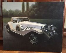 Neo Classic Hand Oil Paint Painting D Hayward Old Vintage Car Clenet Excalibur ?