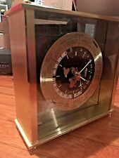 SEIKO SEIKOSHA Translucent TOP Clock CITY NAME QQZ885A World Time Mantel/Shelf