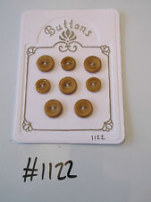 #1122 Lot of 8 Golden Brown Buttons