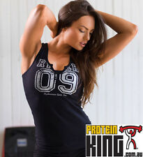 RYDERWEAR V-SPLIT TANK BLACK SMALL WOMENS FITNESS CLOTHING GYM RYDER WEAR