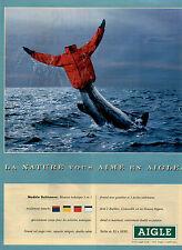 Publicité 1992 AIGLE Modele Baltimore chaussure collection mode pret à porter