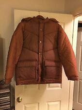 L@@K ! MEN'S HEAVY DUTY POLY FILLED INSULATED WINTER PARKA JACKET COAT & HOOD LG