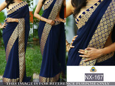Indian Bollywood Designer Party Wear Wedding Traditional Beautiful Saree-nx167