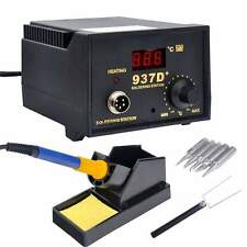 937D+ SMD Soldering Hot Iron Station Digital Adjustable w/ 5 Tips  Japan Heater