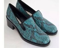 BNWTB 100% Geary STELLA MCCARTNEY Vegan Python Snakeskin Loafers Shoes UK4 EU 37