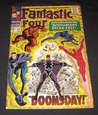 FANTASTIC FOUR #59 Vf- 12¢ cover Marvel Comic | INHUMANS BREAK FREE! - DOOMSDAY!