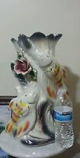 Capodimonte Large Vase with fish and flowers design