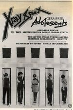 27/6/92PGN07 X-RAY SPEX : GERMFREE ADOLESCENTS ADVERT 7X5""