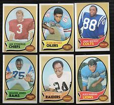 1970 Topps Football Finish Your Set Lot Pick 20 EX-MT to NM Note Card Values