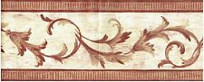 REPEATING VINE PATTERNS ON WALL BURGUNDY TRIM Wallpaper bordeR Wall decor