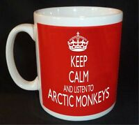 KEEP CALM AND LISTEN TO ARCTIC MONKEYS  MUG CARRY ON RETRO GIFT CUP