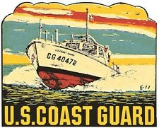 US Coast Guard   Vintage  1950's-Style Travel Decal