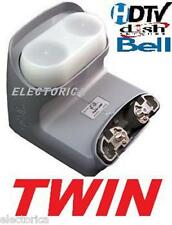 LEGACY TWIN DUAL HD LNB BELL DISH NETWORK W/ SWITCH SW21  82 91 110 119 500 20""