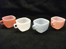 Vintage- 1950's- Glasbake J2265- Coffee or Soup Mugs-