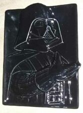 "Disney Star Wars DARTH VADER Black Ceramic FIGURAL PLATE DISH 6.5""x4.5"" RARE NEW"