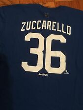 NY RANGERS MATS ZUCCARELLO MSG EXCLUSIVE PLAYER TEE REEBOK SIZE XL 2016