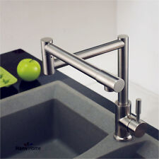 304 Stainless steel Single Handle Kitchen Faucet Folding&360° Rotation Mixer Tap