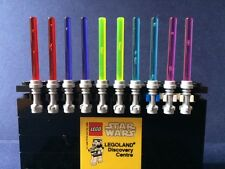 x10 NEW LEGO STAR WARS MINIFIG LIGHT SABER LOT - 5 different trans colours