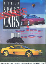 WORLD SPORTS CARS MAGAZINE - November - December / Ferrari 348