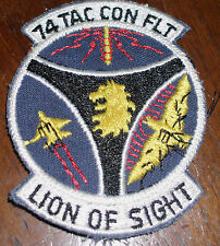 """vintage 74TH TACTICAL CONTROL FLIGHT """"LION OF SIGHT"""" PATCH military USAF vietnam"""