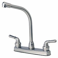 RV/Mobile Home Classic High Rise Swivel Kitchen Faucet Stainless Steel Finish