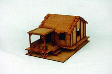 Far East or Jungle PLANKED LOW VILLAGE HOUSE 28mm Laser cut MDF Building K005