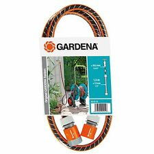 GARDENA TAP TO REEL CONNECTION SET 1.5m Length, 13mm Flexible Hose *German Made
