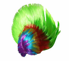 Green Multi Punk Mohican Rocker Wigs Mohawk Wig Fancy Party Dress Stag Hen Night