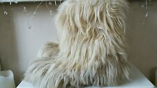 ROLUC IDEAL vintage 1970's Real Goats Fur Yeti Apres-Ski Snow Boots size UK 4/5