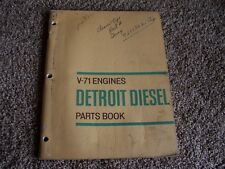 Detroit Diesel Series V-71 V71 Engine Parts Catalog Manual 6 8 12 14 16 24 Cyl