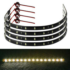 4x30cm 15 LED Car Trucks Motor Grill Flexible Waterproof Light Strips Warm White