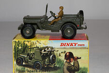 1960's French Dinky #828 Rocket Carrier Jeep, Nice with Original Box, Lot #7