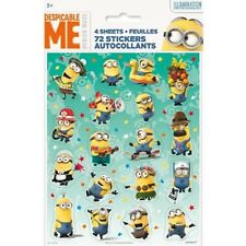 72 Minions Despicable Me Theme Event Birthday Assortment Stickers Party Supplies