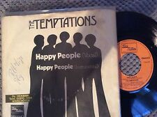 "Temptations, Happy People , 7"" vinyl single made in holland , motown"