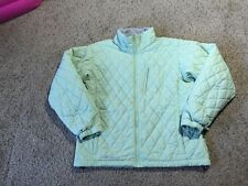 WOMENS SIZE L COLUMBIA QUILTED ZIP FRONT JACKET LIGHT GREEN