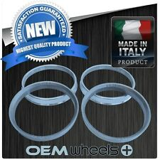 NEW ALUMINUM HUB CENTRIC HUBCENTRIC RING RINGS FOR 72.6 WHEELS to 66.6 CAR ITALY