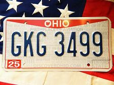 OHIO license licence plate plates USA NUMBER AMERICAN REGISTRATION