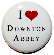 """1"""" (25mm) I LOVE Downton Abbey TV Show Button Badge Pin - Gift"""