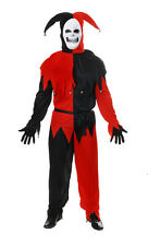 Uomo Jolly Maligno Costume Halloween Horror Clown Del Circo Medievale